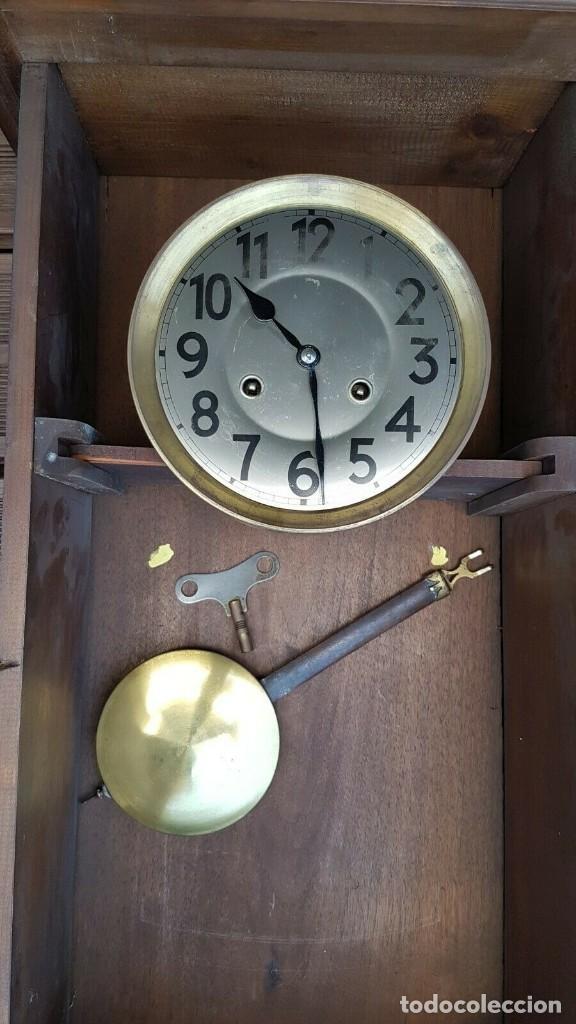 Relojes de pared: ¡¡GRAN OFERTA!!!magnifico reloj HENRI II JUNGHANS- NOGAL- AÑO 1910- FUNCIONA PERFECTAMENTE - Foto 2 - 208875981