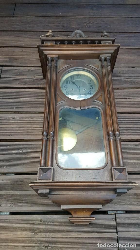 Relojes de pared: ¡¡GRAN OFERTA!!!magnifico reloj HENRI II JUNGHANS- NOGAL- AÑO 1910- FUNCIONA PERFECTAMENTE - Foto 3 - 208875981