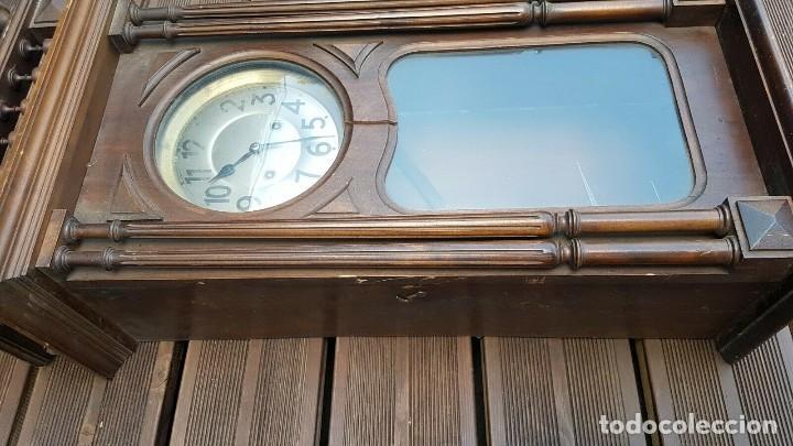 Relojes de pared: ¡¡GRAN OFERTA!!!magnifico reloj HENRI II JUNGHANS- NOGAL- AÑO 1910- FUNCIONA PERFECTAMENTE - Foto 4 - 208875981