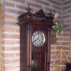 Relojes de pared: PRECIOSO RELOJ - JUNGHANS-ESTILO HENRI II EN NOGAL- AÑO 1880- FUNCIONA PERFECTAMENTE. Lote 209363083