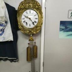 Relojes de pared: RELOJ ANTIGUO MORET CAMPANA DE PÉNDULO GRANDE DE LIRA S.XIX FUNCI0NANDO MARCADO R. JEANTEL MORLIER. Lote 209630010