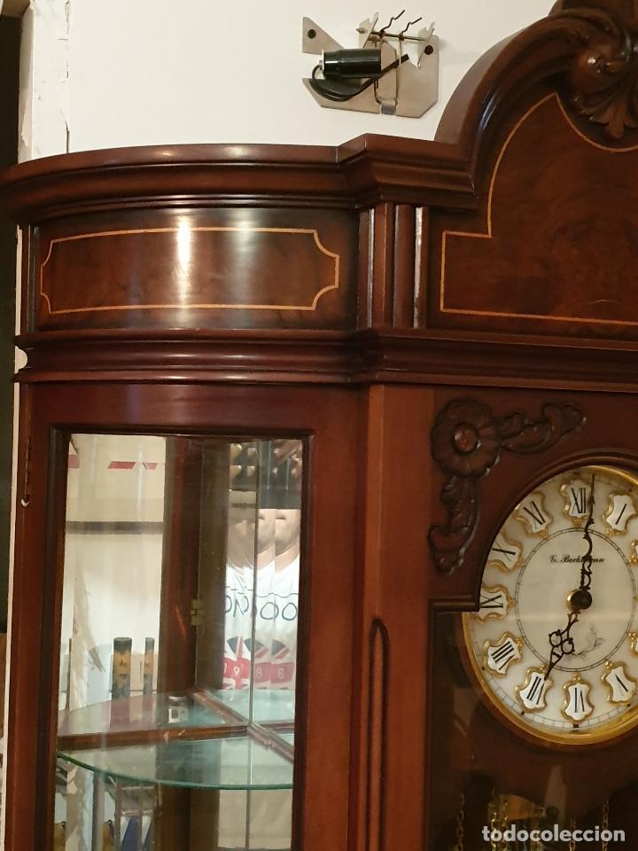 Relojes de pared: MAGNIFICO RELOJ DE PIE PENDULO CON VITRINA - Foto 11 - 209630055