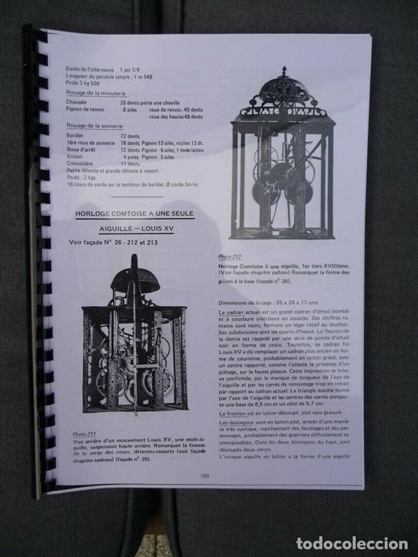Relojes de pared: Una copia del libro Comtoise marca el Morbier el Morez por Francis Maitzner y Jean Moreau - Foto 3 - 209648203