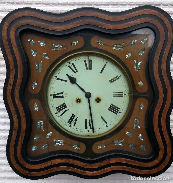Relojes de pared: Antiguo reloj Ojo de buey de principios del siglo XX - Foto 2 - 209667270