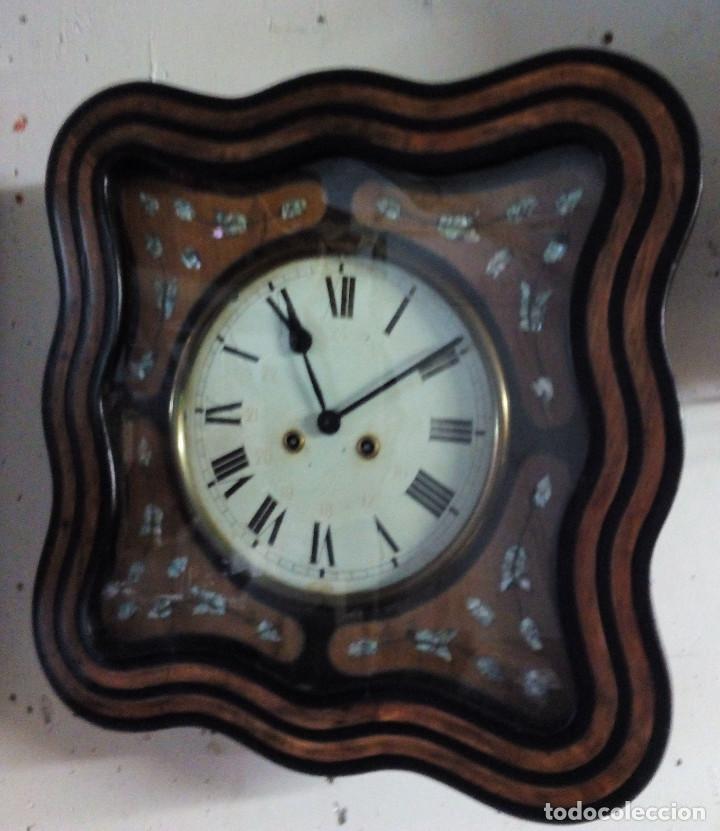 Relojes de pared: Antiguo reloj Ojo de buey de principios del siglo XX - Foto 3 - 209667270