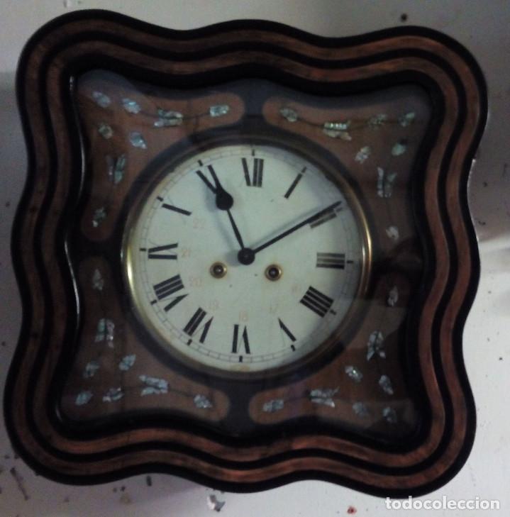 Relojes de pared: Antiguo reloj Ojo de buey de principios del siglo XX - Foto 4 - 209667270
