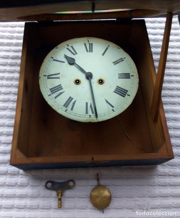 Relojes de pared: Antiguo reloj Ojo de buey de principios del siglo XX - Foto 5 - 209667270
