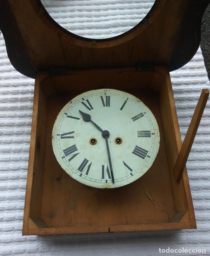 Relojes de pared: Antiguo reloj Ojo de buey de principios del siglo XX - Foto 6 - 209667270