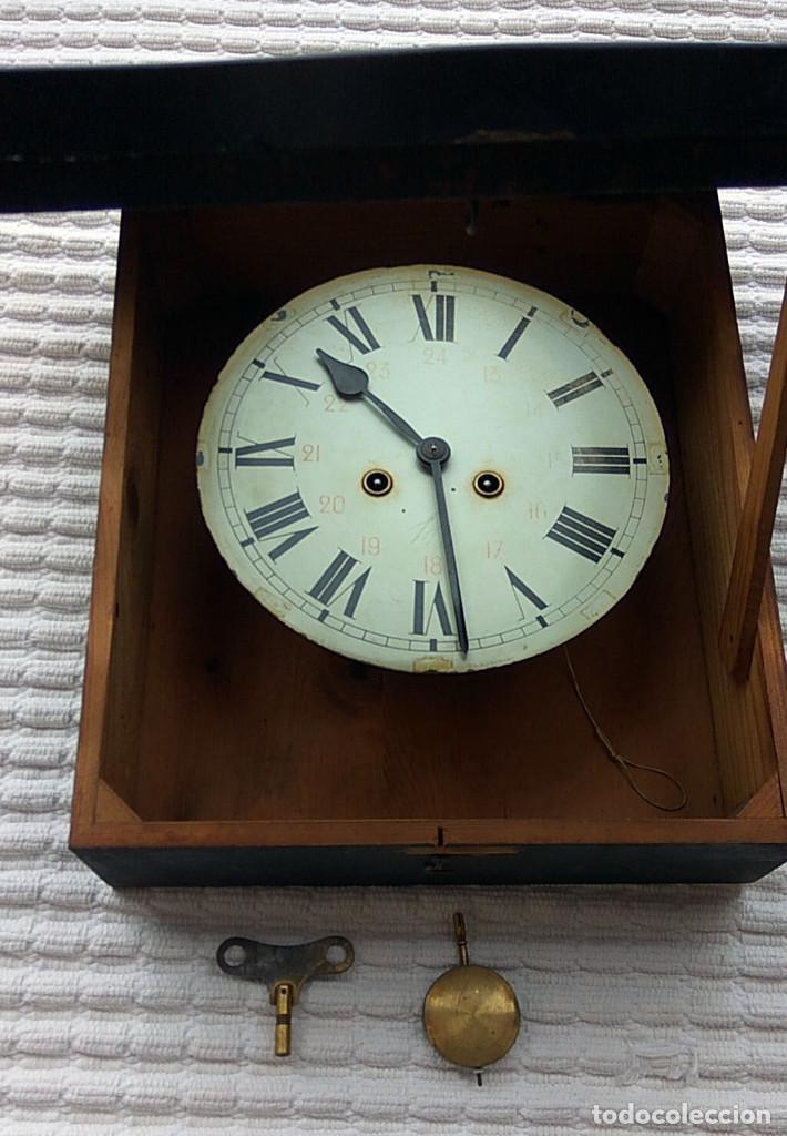 Relojes de pared: Antiguo reloj Ojo de buey de principios del siglo XX - Foto 7 - 209667270