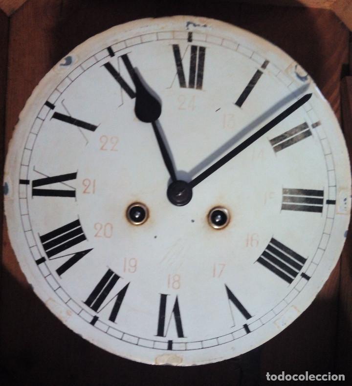 Relojes de pared: Antiguo reloj Ojo de buey de principios del siglo XX - Foto 8 - 209667270