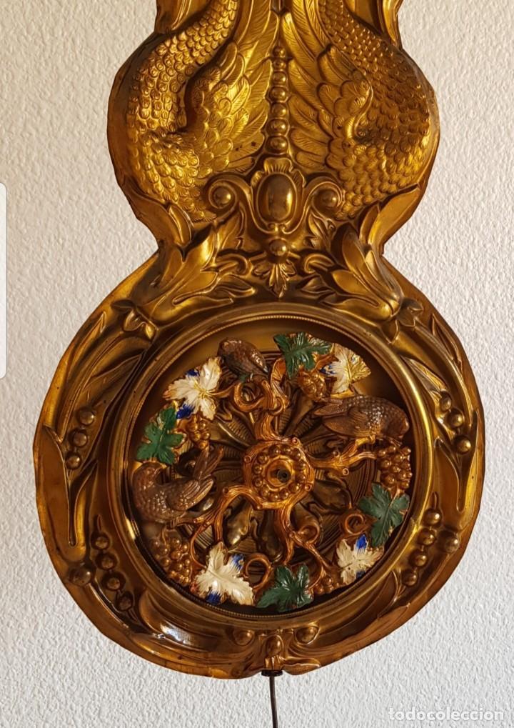 RELOJ MOREZ ANTIGUO DE CAMPANA PÉNDULO REAL AUTÓMATA MUY DETALLADO BUEN ESTADO FUNCIONA DE COLECCIÓN (Relojes - Pared Carga Manual)