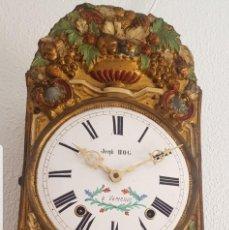 Relojes de pared: RELOJ MOREZ ANTIGUO DE CAMPANA PÉNDULO REAL MUY DETALLADO BUEN ESTADO FUNCIONA ALTA COLECCIÓN. Lote 210020757