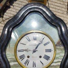Relojes de pared: INCREÍBLE RELOJ OJO DE BUEY. Lote 210388615