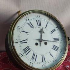 Relojes de pared: ESPECTACULAR RELOJ DE BARCO CON SONERIA SIGLO XIX. Lote 210397360
