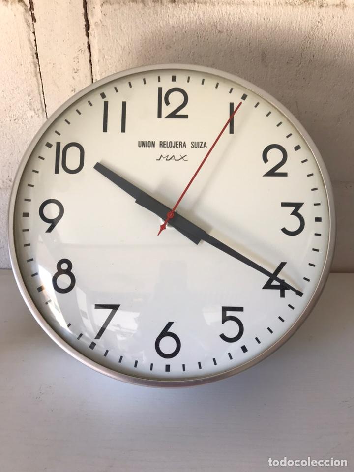 Relojes de pared: Reloj de la Unión Relojera Suiza Max, reloj de impulsos, máquina Westerstrander - Foto 2 - 222058206