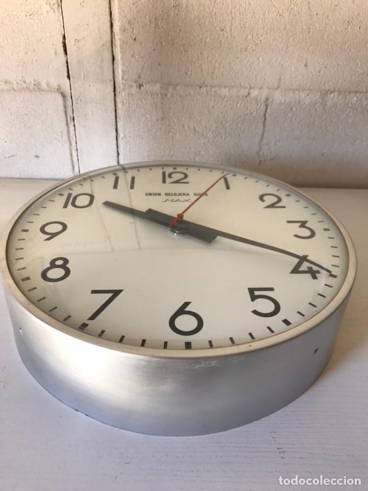 Relojes de pared: Reloj de la Unión Relojera Suiza Max, reloj de impulsos, máquina Westerstrander - Foto 4 - 222058206