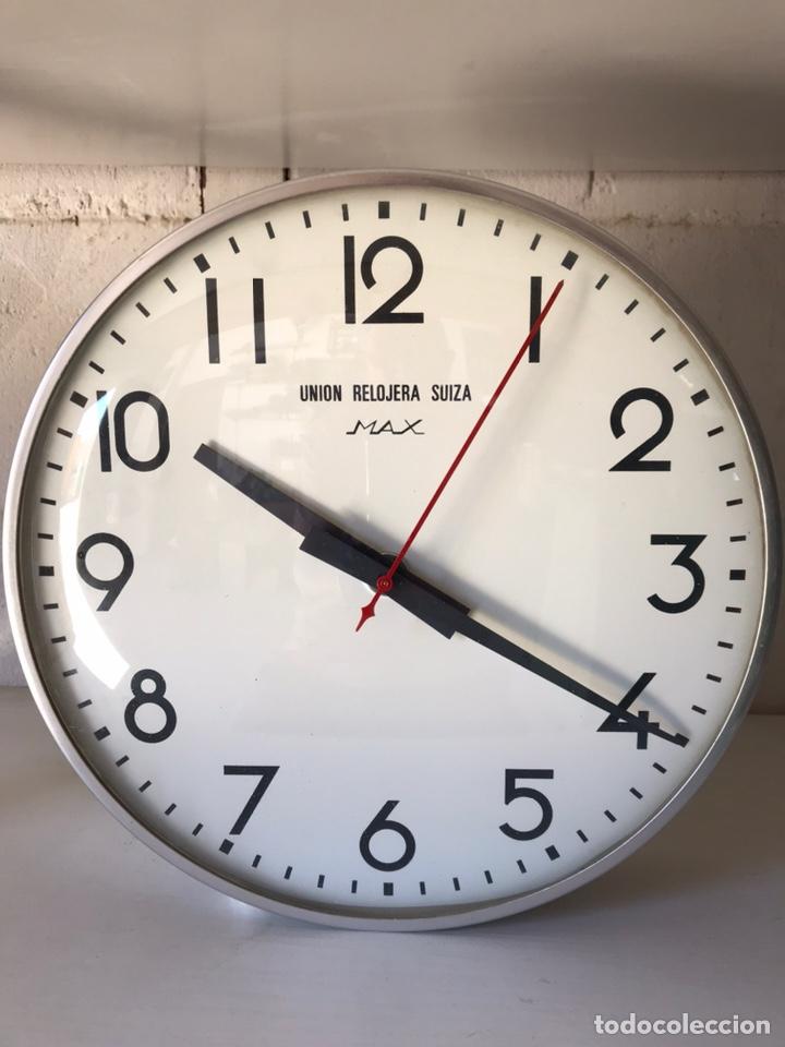 RELOJ DE LA UNIÓN RELOJERA SUIZA MAX, RELOJ DE IMPULSOS, MÁQUINA WESTERSTRANDER (Relojes - Pared Carga Manual)