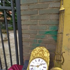 Relojes de pared: ANTIGUO RELOJ MOREZ DE CAMPANA SIGLO XIX. Lote 210553507