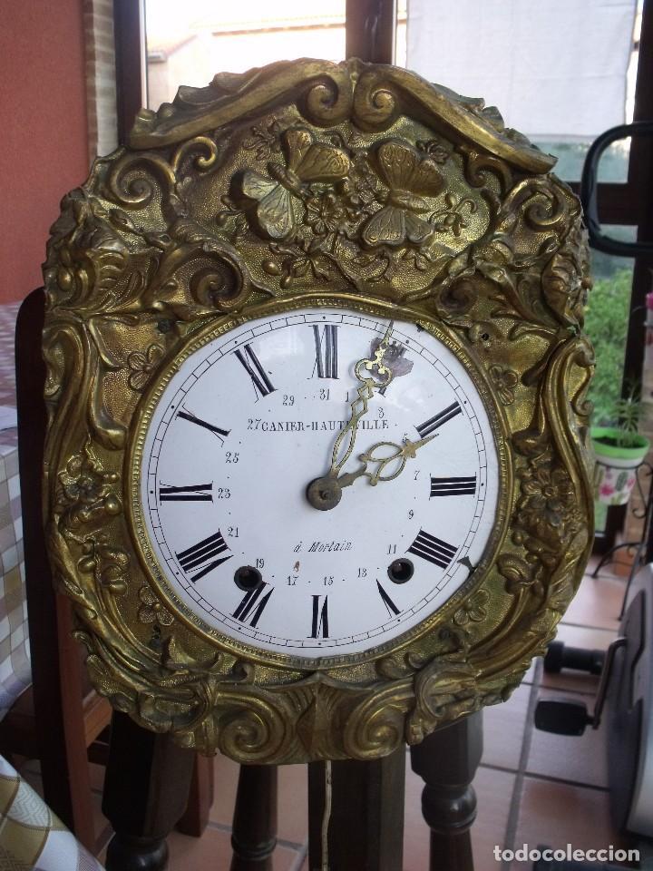¡¡GRAN OFERTA!!!ANTIGUA MAQUINARIA MOREZ PESAS -RESTAURAR O PIEZAS- AÑO 1870- FUNCIONAL- LOTE 287 (Relojes - Pared Carga Manual)