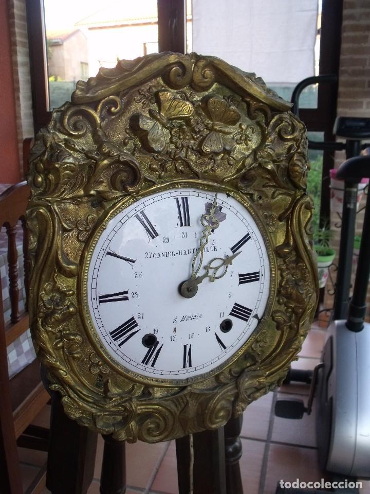 Relojes de pared: ¡¡GRAN OFERTA!!!antigua maquinaria MOREZ PESAS -restaurar o piezas- año 1870- funcional- lote 287 - Foto 2 - 211512290