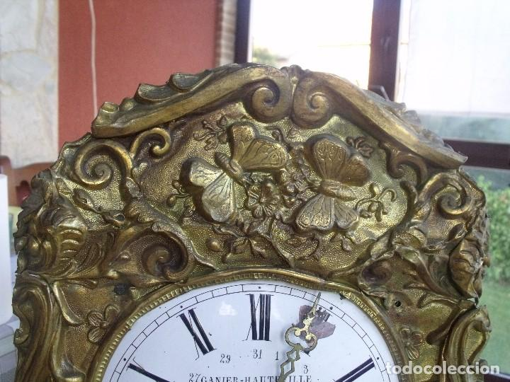 Relojes de pared: ¡¡GRAN OFERTA!!!antigua maquinaria MOREZ PESAS -restaurar o piezas- año 1870- funcional- lote 287 - Foto 3 - 211512290