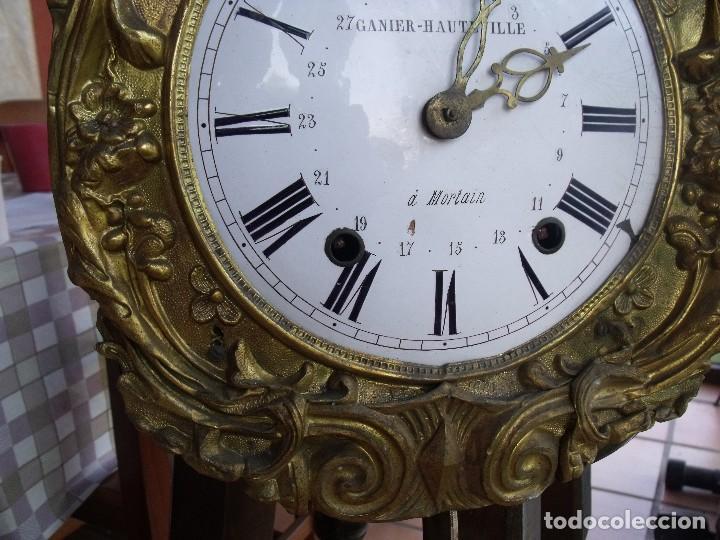 Relojes de pared: ¡¡GRAN OFERTA!!!antigua maquinaria MOREZ PESAS -restaurar o piezas- año 1870- funcional- lote 287 - Foto 4 - 211512290