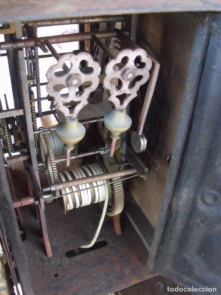 Relojes de pared: ¡¡GRAN OFERTA!!!antigua maquinaria MOREZ PESAS -restaurar o piezas- año 1870- funcional- lote 287 - Foto 8 - 211512290