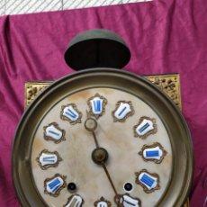 Relojes de pared: PRECIOSO RELOJ ANTIGUO, ESFERA DE MARMOL. Lote 211586387