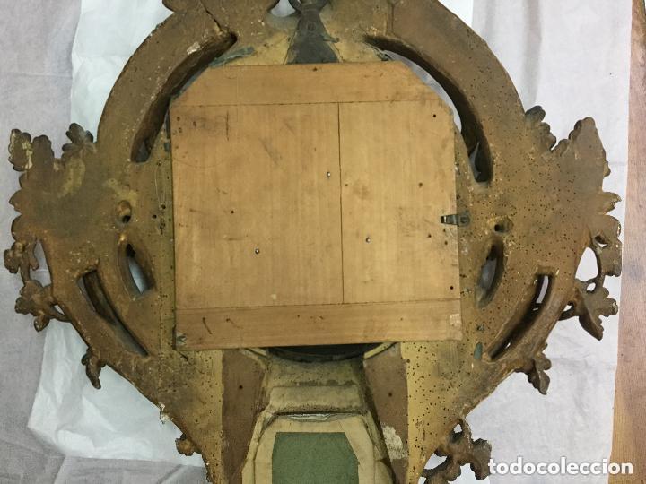 Relojes de pared: IMPRESIONANTE RELOJ CARTEL LOUIS XV,Cartel Clock, Louis XV-EN MADERA DORADA ,SIGLO XVIII-115X75cm - Foto 5 - 211621429