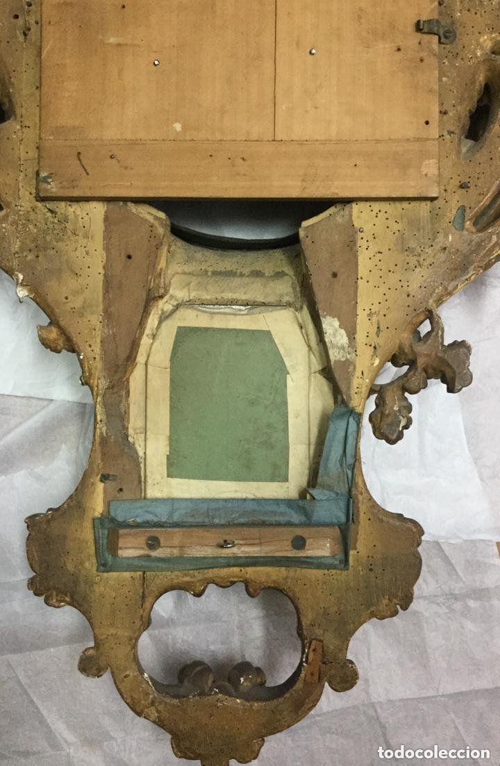Relojes de pared: IMPRESIONANTE RELOJ CARTEL LOUIS XV,Cartel Clock, Louis XV-EN MADERA DORADA ,SIGLO XVIII-115X75cm - Foto 9 - 211621429