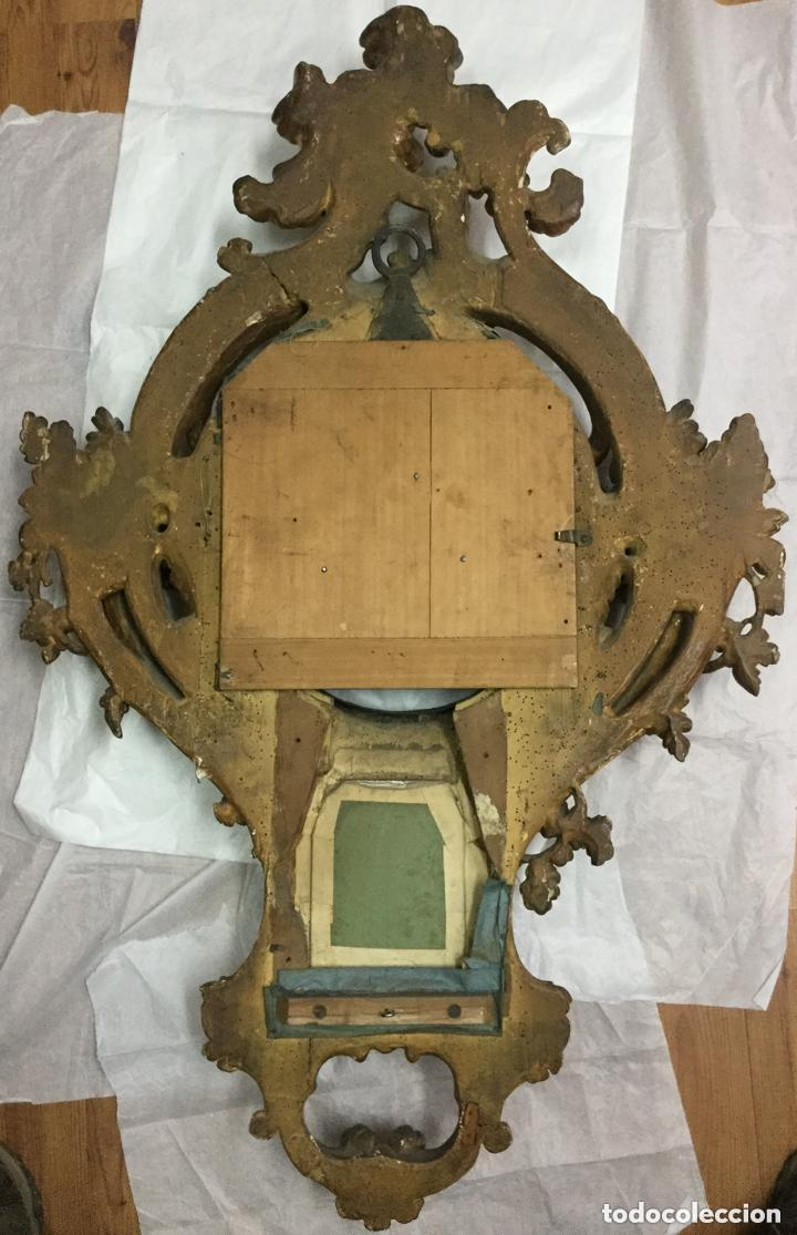 Relojes de pared: IMPRESIONANTE RELOJ CARTEL LOUIS XV,Cartel Clock, Louis XV-EN MADERA DORADA ,SIGLO XVIII-115X75cm - Foto 11 - 211621429