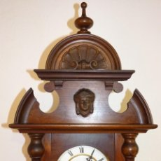 Relojes de pared: ANTIGUO RELOJ DE PARED ALFONSINO JUNGHANS. RELOJERO LORENZO REDONDO. CUENCA, CIRCA 1880. FUNCIONANDO. Lote 211640055