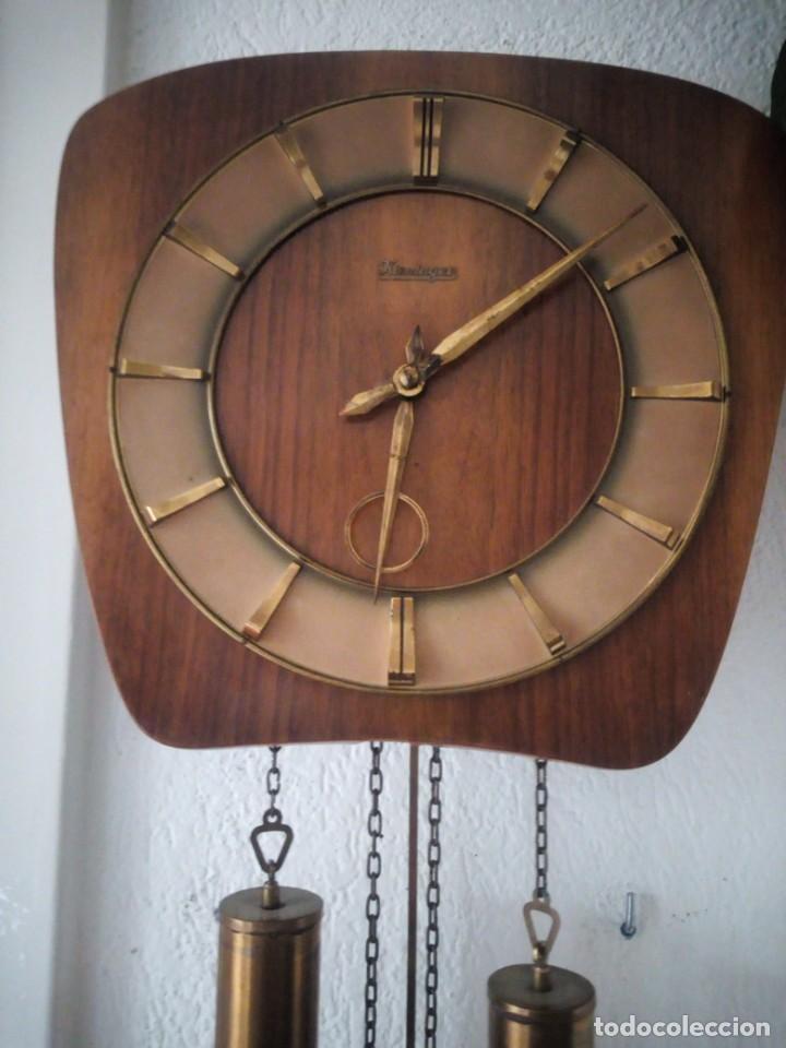 Relojes de pared: reloj de pared kieninger,con soneria,las horas y las medias.años 40/50 - Foto 3 - 211954441