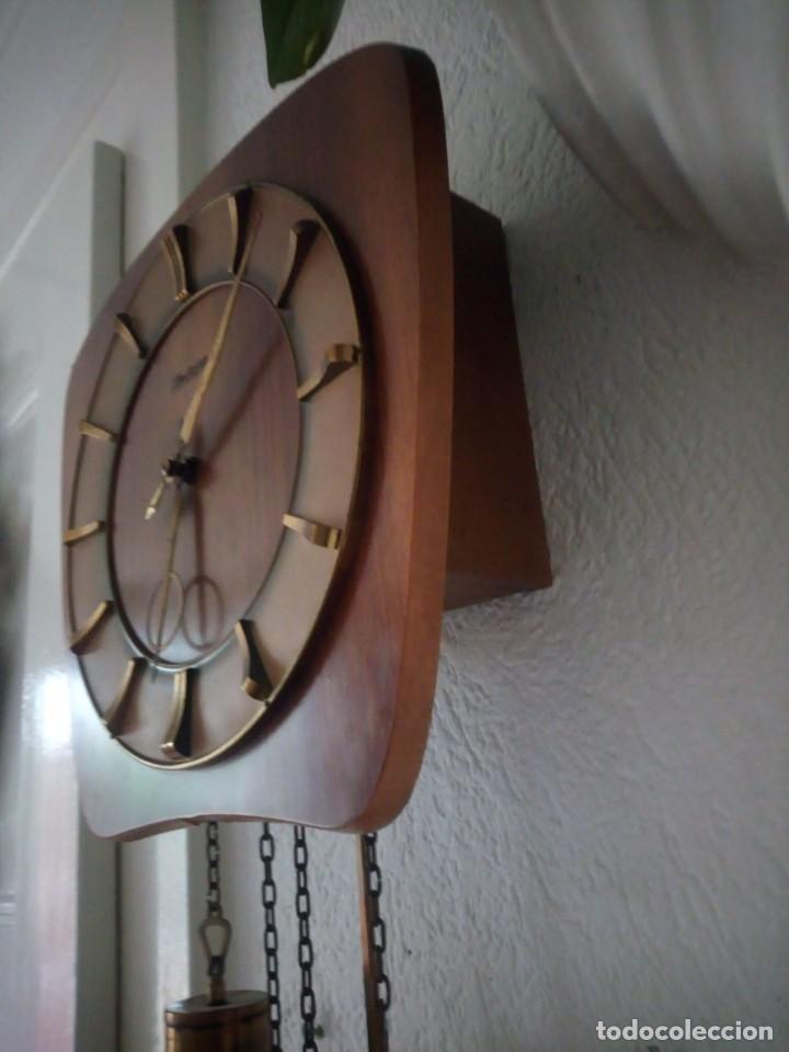 Relojes de pared: reloj de pared kieninger,con soneria,las horas y las medias.años 40/50 - Foto 5 - 211954441