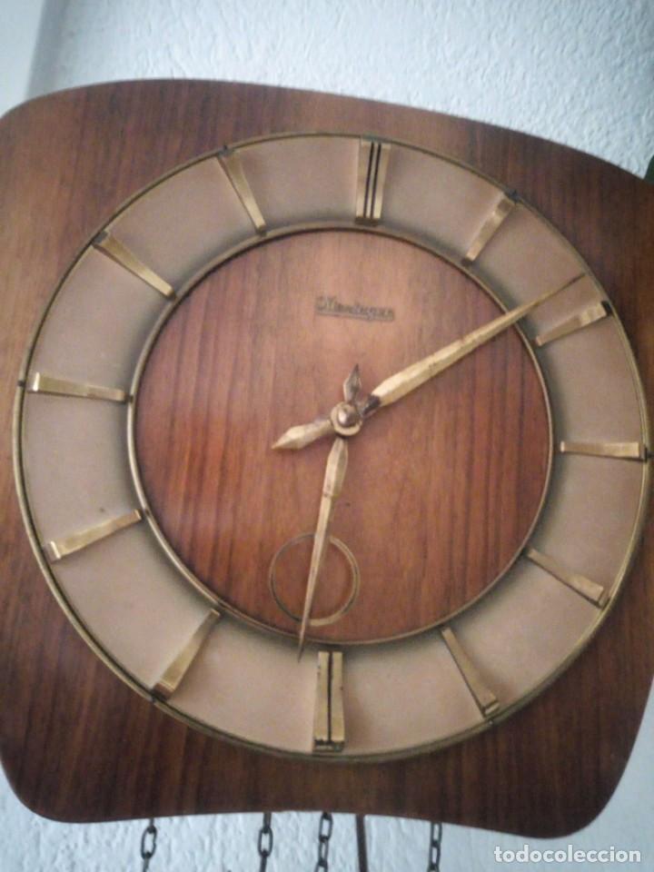 Relojes de pared: reloj de pared kieninger,con soneria,las horas y las medias.años 40/50 - Foto 6 - 211954441
