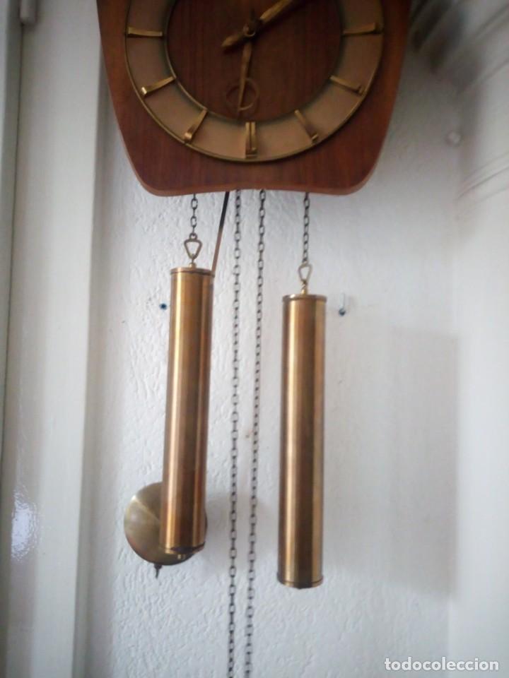 Relojes de pared: reloj de pared kieninger,con soneria,las horas y las medias.años 40/50 - Foto 7 - 211954441