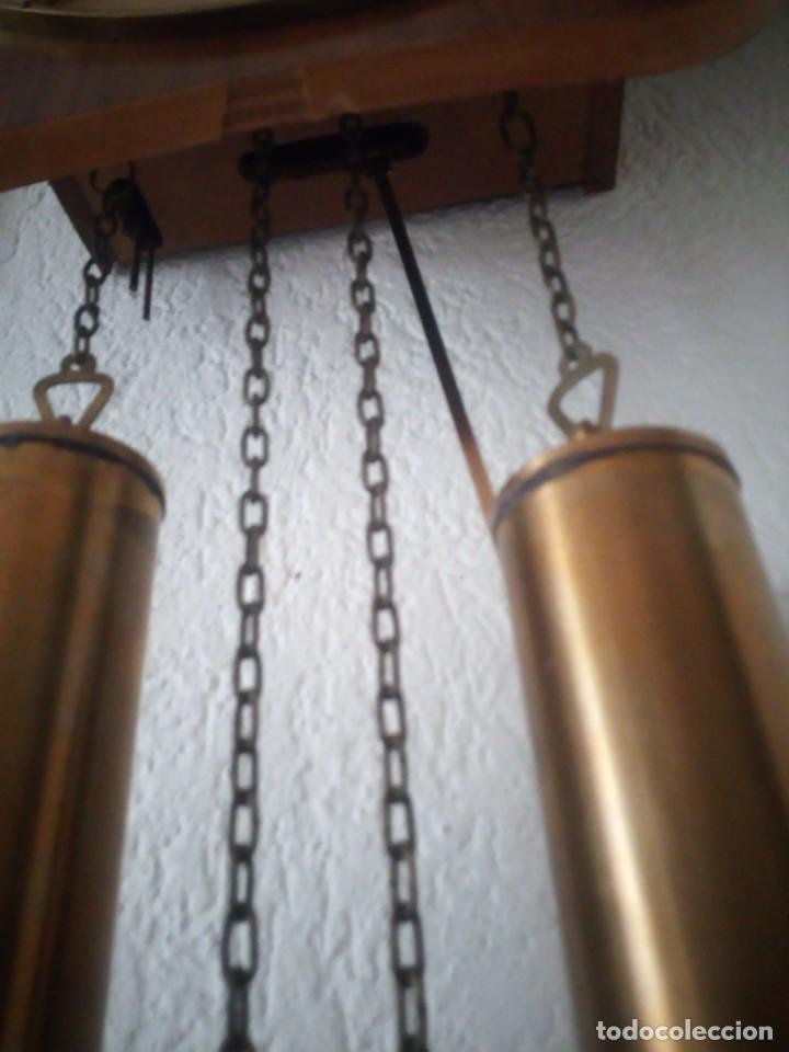 Relojes de pared: reloj de pared kieninger,con soneria,las horas y las medias.años 40/50 - Foto 10 - 211954441