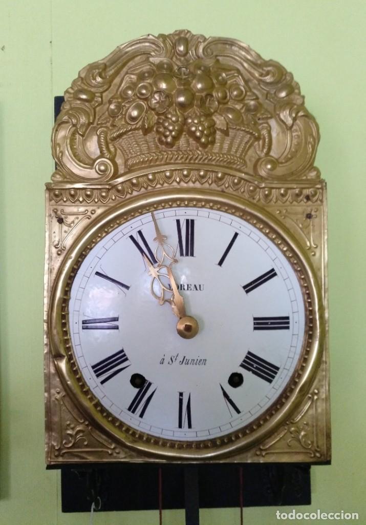 Relojes de pared: ANTIGUO RELOJ MOREZ COMTOISE FUNCIONANDO - Foto 2 - 212524625