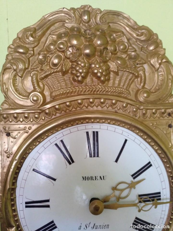Relojes de pared: ANTIGUO RELOJ MOREZ COMTOISE FUNCIONANDO - Foto 4 - 212524625