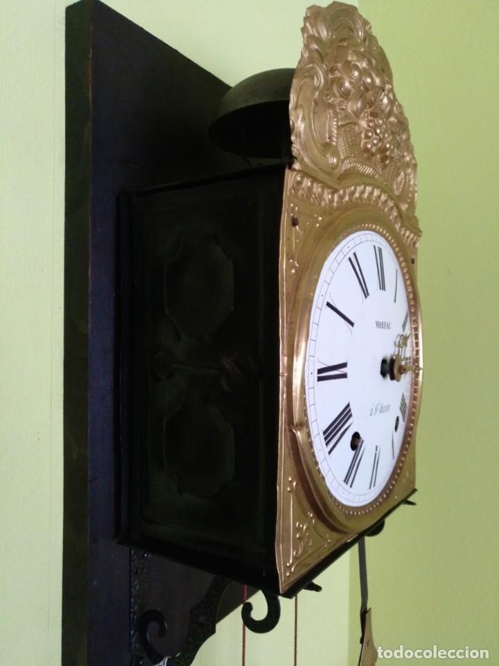 Relojes de pared: ANTIGUO RELOJ MOREZ COMTOISE FUNCIONANDO - Foto 5 - 212524625