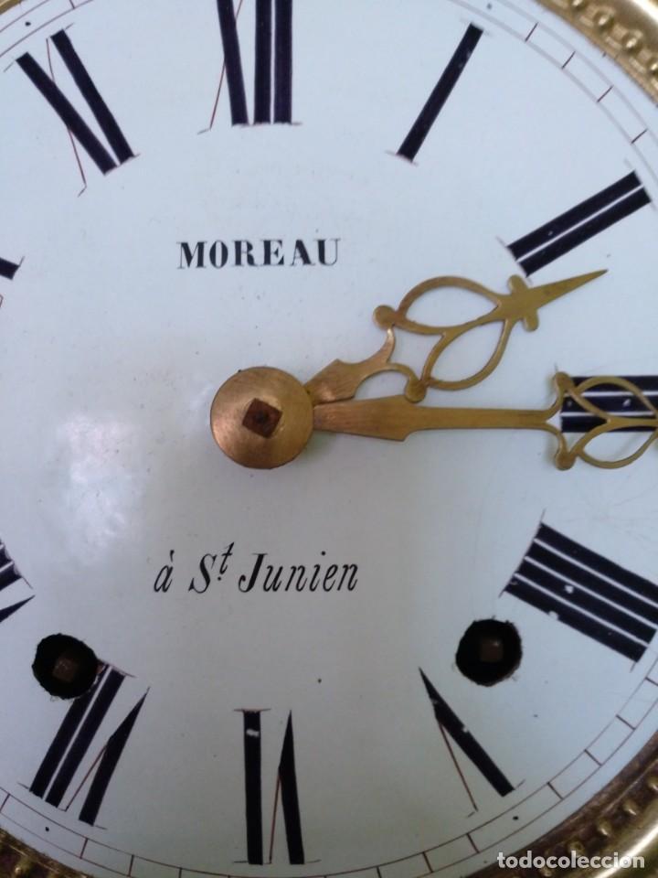 Relojes de pared: ANTIGUO RELOJ MOREZ COMTOISE FUNCIONANDO - Foto 6 - 212524625