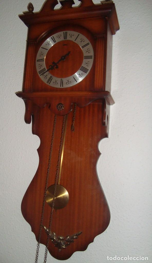 Relojes de pared: ANTIGUO RELOJ DE PENDULOS MARCA SARS - Foto 7 - 212531380