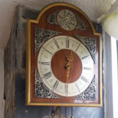Relojes de pared: RELOJ DE PÉNDULO TEMPUS FUGIT. Lote 213265527