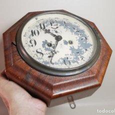 Relojes de pared: ORIGINAL RELOJ PARED NAUTICO -BARCO JUNGHANS P.P.S.XX-FUNCIONANDO. Lote 213306283