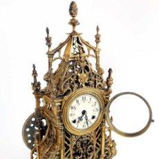 Relojes de pared: ANTIGUO RELOJ DE SOBREMESA O PARED DE BRONCE CHAPADO ALEMÁN. Lote 213600282