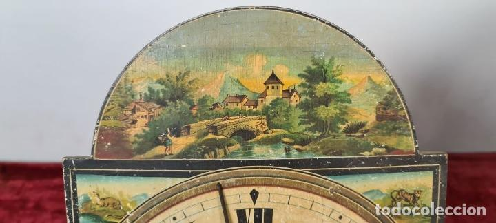 Relojes de pared: PAREJA DE RELOJES DE PARED. RATERAS. SELVA NEGRA. ALEMANIA. SIGLO XIX. - Foto 3 - 213688720