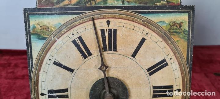 Relojes de pared: PAREJA DE RELOJES DE PARED. RATERAS. SELVA NEGRA. ALEMANIA. SIGLO XIX. - Foto 4 - 213688720