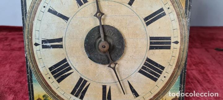 Relojes de pared: PAREJA DE RELOJES DE PARED. RATERAS. SELVA NEGRA. ALEMANIA. SIGLO XIX. - Foto 5 - 213688720