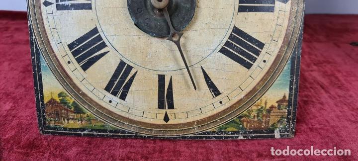 Relojes de pared: PAREJA DE RELOJES DE PARED. RATERAS. SELVA NEGRA. ALEMANIA. SIGLO XIX. - Foto 6 - 213688720