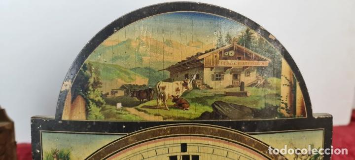 Relojes de pared: PAREJA DE RELOJES DE PARED. RATERAS. SELVA NEGRA. ALEMANIA. SIGLO XIX. - Foto 7 - 213688720